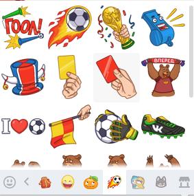 """Стикеры """"футбол 2014"""" вконтакте"""